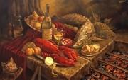 Ужин для Своих. (2011 г) 110х70 (холст/масло).