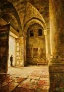 У входа. Храм Гроба Господня. (2015 г) 100х70 (холст, масло)