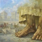 Что есть Истина? Христос и Пилат. (2019) 70х70 (холст, масло)